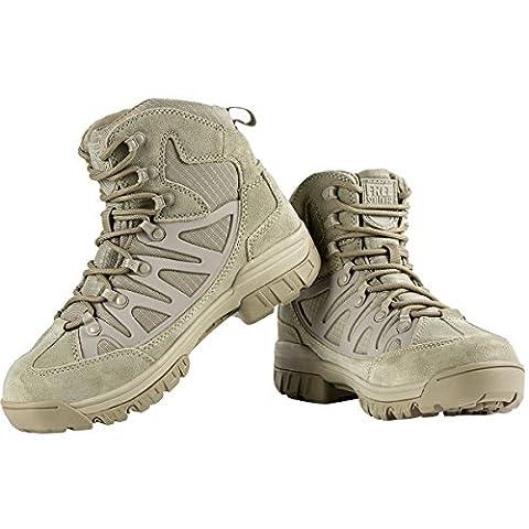gratuit Soldat léger respirant Chaussures de sécurité tactique militaire Cadet faible Top randonnée Sports de plein air Camping Chaussures en cuir 6 boue