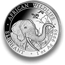 Moneda de Plata Elefante Somalia – African Wildlife – 1 onza Plata de ley – Envase