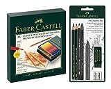 Faber-Castell 110092 - Farbstifte Polychromos 36er Atelierbox und Pitt Graphite Zeichenset