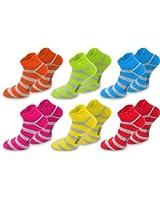 6 x Neon Sneaker aus Baumwolle mit Komfortferse