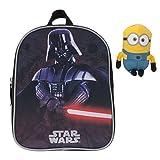 Fabrizio Kinderrucksack Kindergartenrucksack STAR WARS / DISNEY CARS Yoda Darth Vader + MINION Figur 15 cm (STAR WARS Darth Vader 9001)