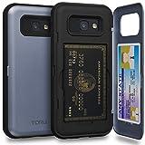 TORU CX PRO Galaxy A5 2017 Hülle Kartenfach Blau mit Verstecktes Ausweis-Slot Kreditkartenhalter und Spiegel für Samsung Galaxy A5 (2017) - Orchidee Grau