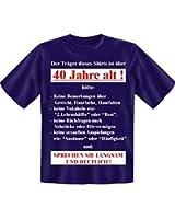 Der Träger dieses Shirts ist über 40 Jahre alt!... lustiges Geburtstagsshirt zum 40. Fun T-Shirt Farbe navy-blau