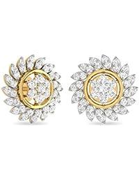 PC Jeweller The Kaylia 18KT Yellow Gold & Diamond Earring