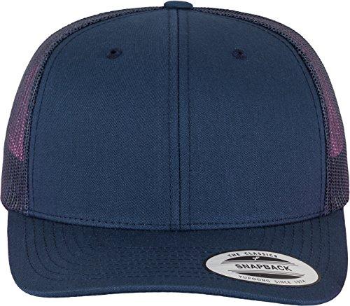 Flexfit Snapback Unisex Baseball-Mütze | Trucker Kappe Mesh Basecap, Blau (Marine), Gr. One Size