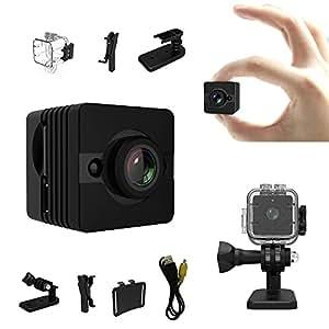mini camera bysameyee 1080p hd hidden spy cam action. Black Bedroom Furniture Sets. Home Design Ideas