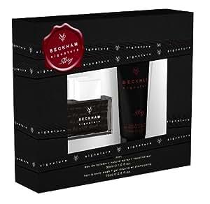Beckham Signature Story, homme/man, Geschenkset (Eau de Toilette 30 ml + Hair + Duschgel für Körper und Haare 75 ml)