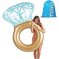 Baby Pig Anillo de natación gigante, piscina inflable balsa flotante, tumbonas de juguete de