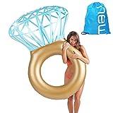 Baby Pig Riesiger Schwimmen-Ring, aufblasbares Pool-Floss-Floss, im Freien Sommer-Strand-Party-Spielzeug-Ruhesessel, Wasser-Erholungs-Freizeit-Stuhl für erwachsene Kinder (Diamant)