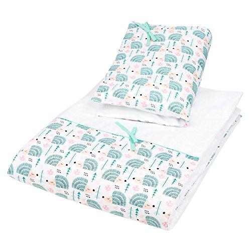 Preisvergleich Produktbild Dkaren 2 teiliges Bettwäsche-Set aus 100% Baumwollsatin für Ihren Kleinen (40x60/100x135, Igel)