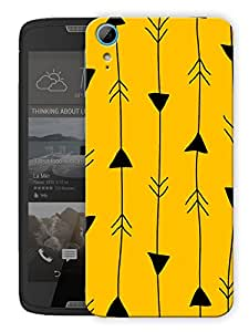 "Humor Gang Arrow In Line Printed Designer Mobile Back Cover For ""HTC DESIRE 828"" (3D, Matte Finish, Premium Quality, Protective Snap On Slim Hard Phone Case, Multi Color)"