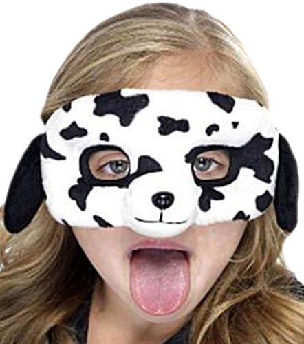 Halloweenia - Kinder Dalmatiner Maske, Weiß, Schwarz