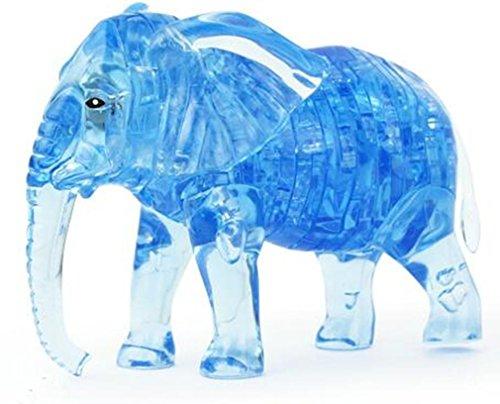 Preisvergleich Produktbild NWYJR Lernspielzeug Pädagogische Spielzeug 3D Stereo Elefant Crystal Puzzle Intelligenz Kinder dreidimensionale puzzle zusammenbauen montiert Spielzeug , blue