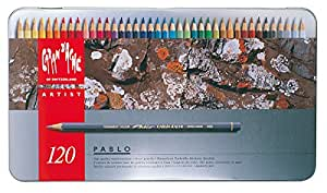 Caran D'Ache Pablo artists quality colouring pencils tin set of 120 assorted water resistant colours