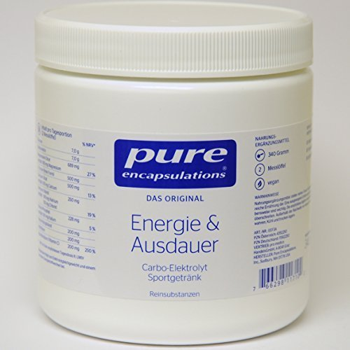 PURE ENCAPSULATIONS Energie & Ausdauer Pulver 340 g