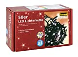 Idena 8325054 Led- Lichterkette 50-er innen warm weiss