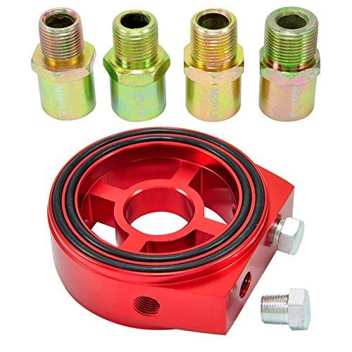 Filtre à huile Sandwich Plaque Adaptateur 1/8 NPT öltemperatur Capteur M18 M20 M22 3/4-16