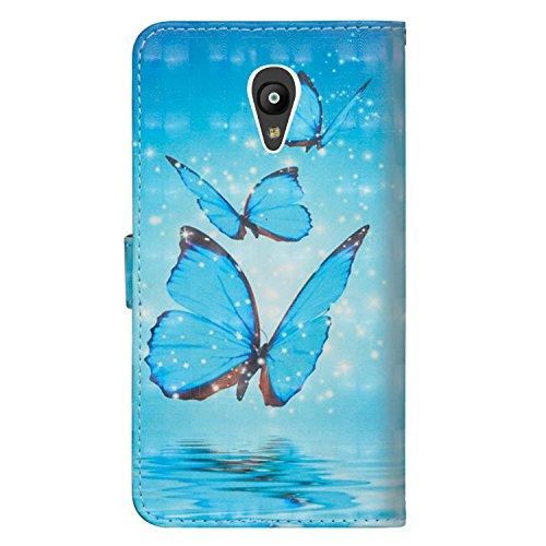 Pour Alcatel Pixi 4 5 0 5010D Coque, Housse en Cuir Premium Flip Case  Portefeuille Etui, Wallet Protecteur Étui Coque Flip PU Cuir Portefeuille  Etui