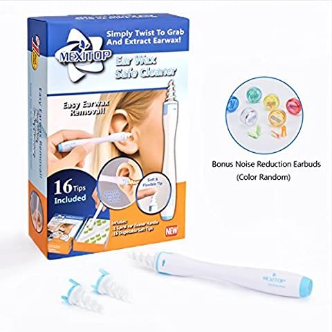MEXITOP Ear Wax Remover Cleaner Kit with Upgraded 16 Disposable