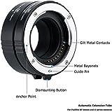 JJC 2-Pièce (11mm/16mm) Métal Ensemble Tube d'Extension Automatique Macro pour Fujifilm monture X et des objectifs FUJINON XF