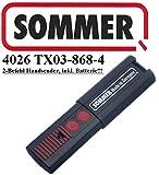 Sommer 4026TX03–868–4, 2-Kanal-868MHz Fernbedienung, Top Qualität Original. 100% Kompatibel mit Sommer 4020, Sommer 4031, Sommer 4025