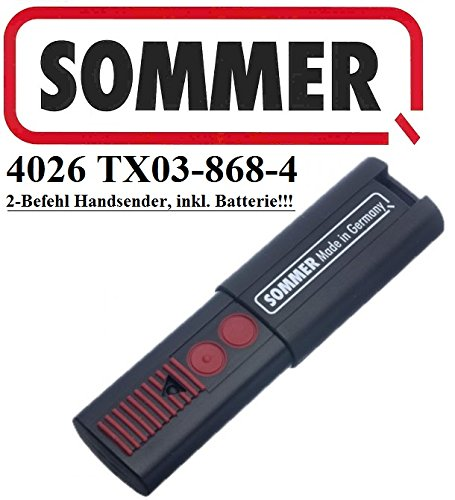Sommer 4026 TX03-868-4, 2-kanal handsender, 868,8 Mhz Rolling code!!! Top Qualität original fernbedienung!!! 100% Kompatibel mit Sommer 4020, Sommer 4031 & Sommer 4025