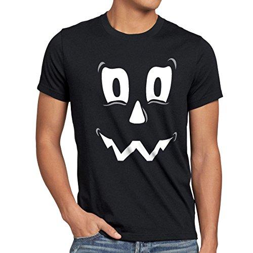 k Geist Herren T-Shirt, Größe:XL;Farbe:Schwarz (Kontakt Geist Halloween)