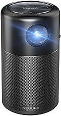 Nebula Capsule Beamer von Anker, Smarter Tragbarer Projektor mit Wi-Fi Pico,100 ANSI lm, Hochqualitatives Taschenkino, DLP, 360°Lautsprecher, Federleicht und kompakt, 2,5 Meter Bildfläche, für Android 7.1, 4 Stunden Akkulaufzeit, mit zugehöriger App