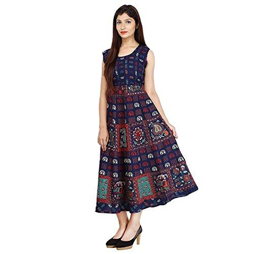 Star Product Designer Cotton Women's Maxi Long Dress Jaipuri Animal Printed Dress...
