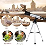 #4: Cartshopper Land & Sky Telescope For Kids Educational - Optical Glass & Metal Tube Refractor Telescope for Watching Planets (90X Power) With Tripod & 2 Eyepieces