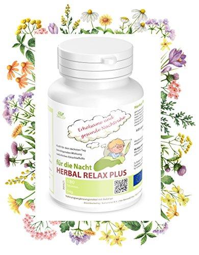 Nachtruhe Schlaf Entspannung Anti Stress: Herbal Relax Plus, einzigartige Heilkräutermischung für eine erholsame und gesunde Nachtruhe. Hilft daher bei Angst, nervösen Beschwerden, Burnout und Schlaflosigkeit.