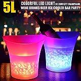 Volwco Cubo De Hielo LED Cambio De Colores Cubitera LED Gran