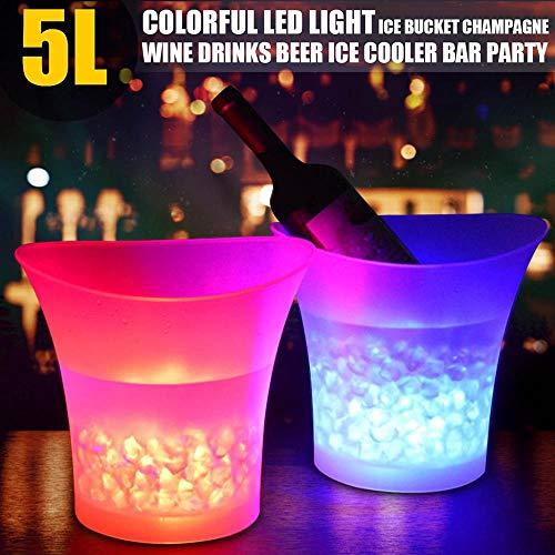 Roebii Cubo De Hielo LED Cambio De Colores Cubitera