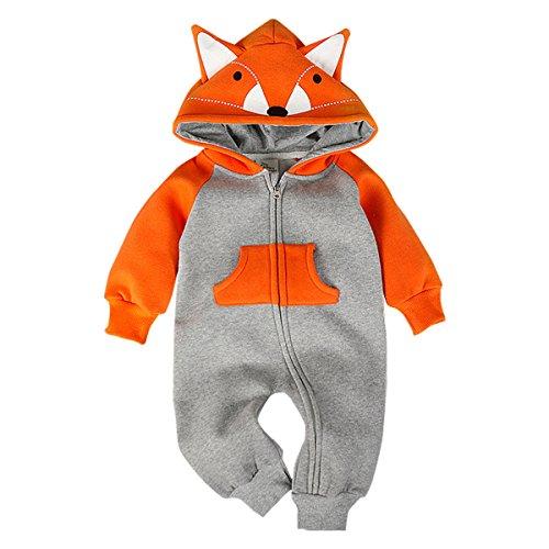 Bebone Baby Junge Mädchen Strampler Baumwolle Babykleidung (9 Monate/90, - Süßes Fuchs Mädchen Kostüm