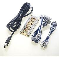 Reyann PS3 / PC Zero Delay Juego Arcade USB Encoder PC a Joystick para MAME y Raspberry Pi Retropie Proyectos 2Pin - 4.8MM