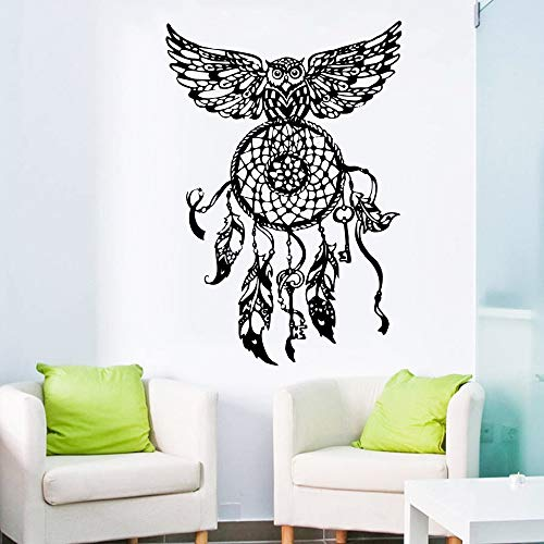 Wallpaper Dream Catcher Owl Sticker en la Pared Dormitorio Hippie Nati