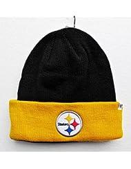 Pittsburgh Steelers sur champ 2couleurs Noir, Jaune manchette tricot bonnet casquette chapeau NFL
