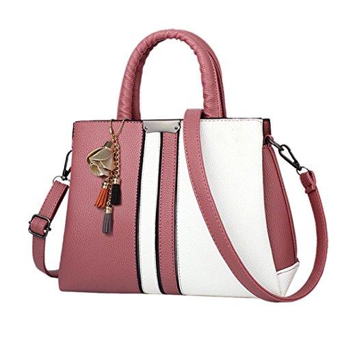 Tasche, Voberry Mode Frauen Rose Quasten Umhängetasche Messenger Schultertasche Handtasche Wassermelone Rot