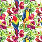 John Louden Papageien Birds of Paradise Weicher Stoff –