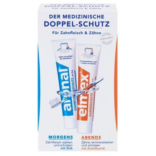 aronal / elmex Mini Doppel-Schutz Zahnpasta, 6er Pack (6 x 24 ml)