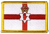 Flaggen Aufnäher Nordirland Fahne Patch + gratis