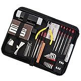 MagiDeal 1 Satz Gitarre Reparatur Werkzeug Kit mit Aufbewahrungsbeutel - Pin Harmmer, Nussschlüssel, Holzstange
