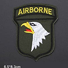 Pinkdose® Us Army Airborne Military Iron On Patch Embroidered Clothes Patches for Clothing Clothes Stickers Garment Apparel Accessories