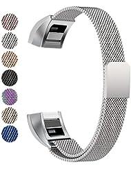 Fitbit Alta HR Armband, BeneStellar Milanese Edelstahl Uhrenarmband Mailänder Magnetschleife Edelstahlband Ersatz Armband Für Fitbit Alta HR und Alta