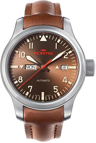 Fortis B-42 Aeromaster Dawn 655.10.18.L08 Automatic Mens Watch Excellent readability