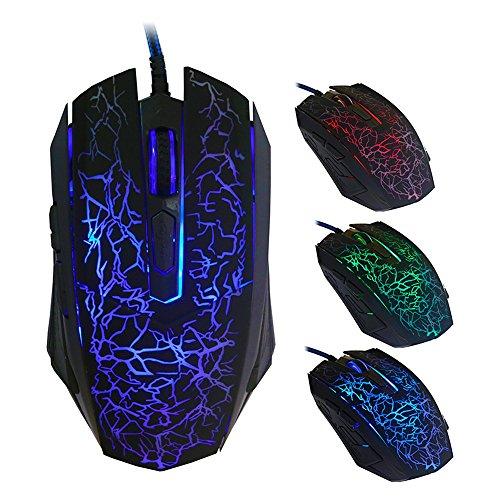 Gaming-Mäuse, X 8Professional USB Wired optische 6Tasten Gaming Maus mit LED Hintergrundbeleuchtung (Test-kleinkind-t-shirt)