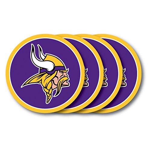 Duck House NFL Minnesota Vikings Untersetzer (Set von 4) (Viking Minnesota Fußball)
