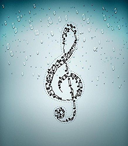 Preisvergleich Produktbild Aufkleber/Sticker für Auto, Motorrad, Violinschlüssel Musikinstrument Note R2
