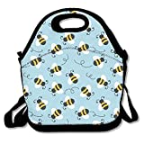 Bumblebee Pattern Lunch Tote Insulated Reusable Picnic Lunch Bags For Men Women Adults Kids Toddler Nurses