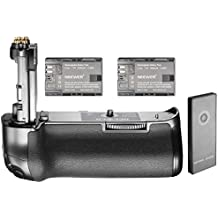 Neewer NW-5D Mark IV 2.4G de control remoto inalámbrico reemplazo de la empuñadura de la batería para Canon BG-E20 y 2 piezas 2000 mAh batería de repuesto para LP-E6, compatible con Canon EOS 5D Mark IV DSLR Cámara Cuerpo